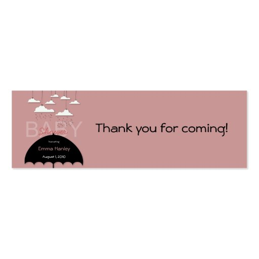 Etiqueta del favor de la fiesta de bienvenida al b plantilla de tarjeta personal