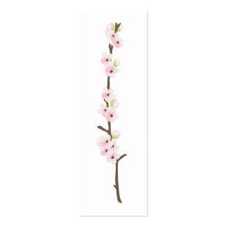 Etiqueta del favor de la rama de la flor de cerezo tarjeta personal