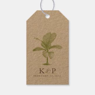 Etiqueta del favor del boda de playa de la palmera etiquetas para regalos