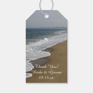 Etiqueta del favor del boda de playa etiquetas para regalos
