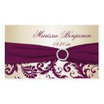 Etiqueta del favor del boda del ciruelo y del dama plantilla de tarjeta de negocio