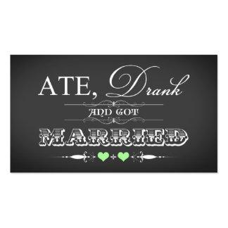 Etiqueta del favor del boda del estilo de la tarjetas de visita