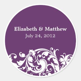 Etiqueta del favor del boda del remolino del