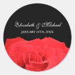 Etiqueta del favor del boda del rosa rojo y del ne