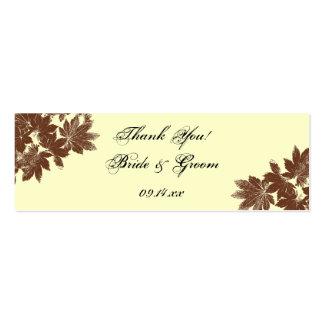 Etiqueta del favor del boda del sello de la hoja tarjetas de negocios