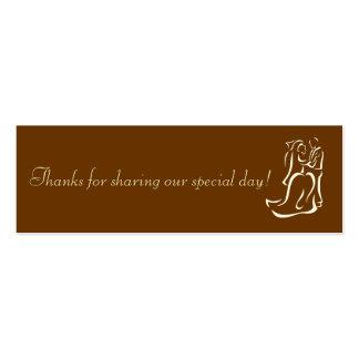 Etiqueta del favor del chocolate de Bride&Groom Tarjetas De Visita Mini