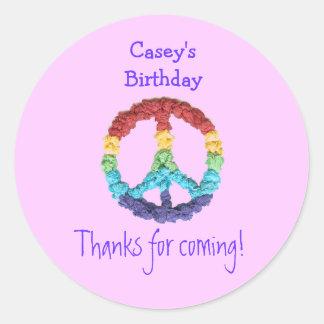 Etiqueta del favor del cumpleaños del signo de la