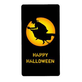 Etiqueta del feliz Halloween de la bruja de Hallow Etiqueta De Envío