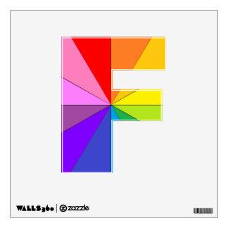 Etiqueta del fiesta de la letra F Colorwheel del Vinilo Adhesivo