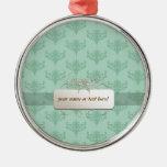 etiqueta del fondo de la verde menta adorno para reyes