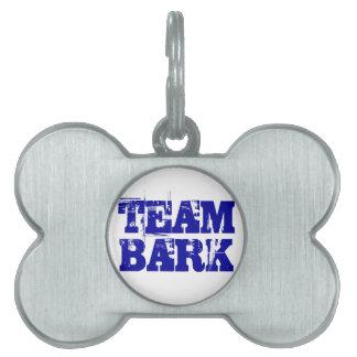 Etiqueta del funcionario de la corteza del equipo placa de mascota