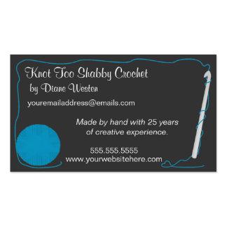 Etiqueta del ganchillo o tarjeta de visita