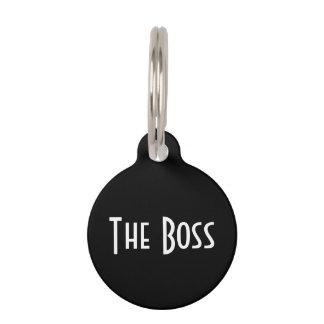 "Etiqueta del gato ""de Boss"" Placa Para Mascotas"