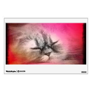 Etiqueta del gato el dormir vinilo