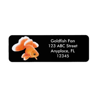 Etiqueta del Goldfish de la cola de milano de la Etiqueta De Remite