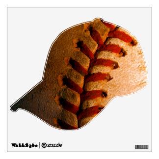 Etiqueta del gorra de béisbol del vintage y de la vinilo decorativo