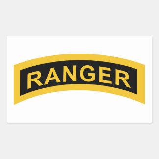 Etiqueta del guardabosques del ejército