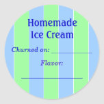 Etiqueta del helado