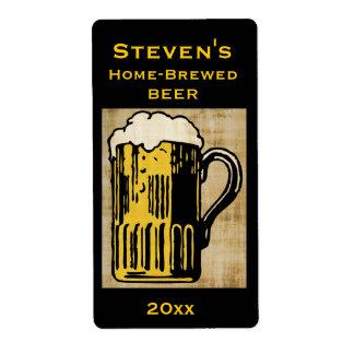 Etiqueta del Hogar-Brew de la taza de cerveza Etiquetas De Envío