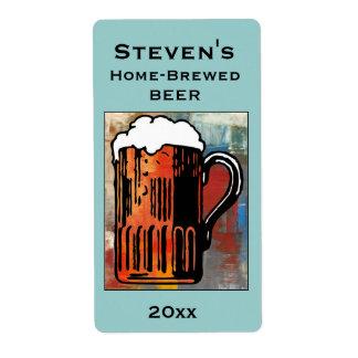 Etiqueta del Hogar-Brew de la taza de cerveza Etiqueta De Envío