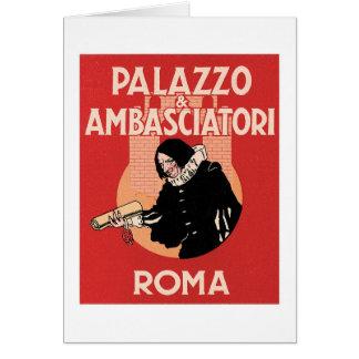Etiqueta del hotel de Roma Italia del viaje del Tarjeta Pequeña