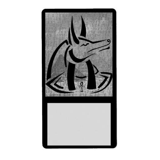 Etiqueta del identificador de Anubis Etiquetas De Envío