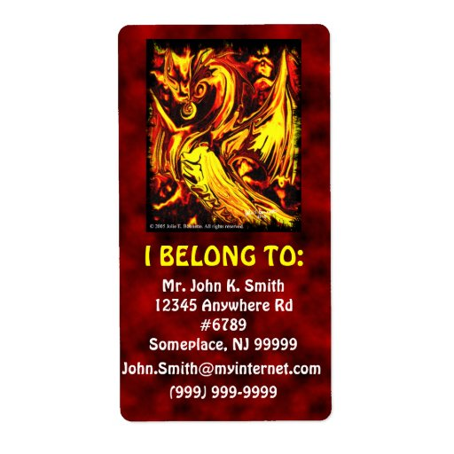 Etiqueta del identificador del alcohol del fuego etiqueta de envío