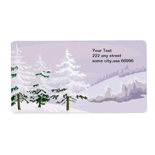 Etiqueta del invierno etiquetas de envío