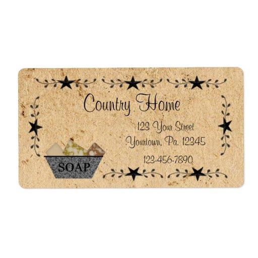 Etiqueta del jabón de la frontera de la estrella etiquetas de envío