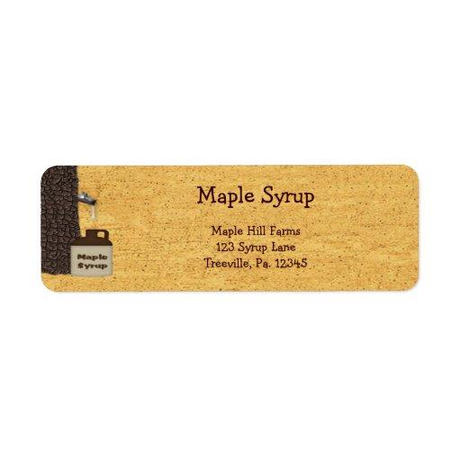 Etiqueta del jarabe de arce pequeña etiquetas de remite