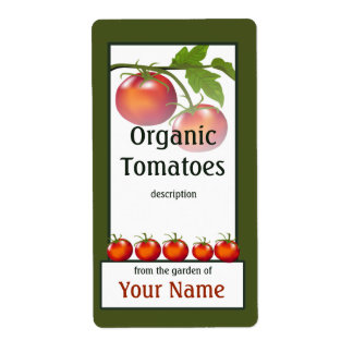 Etiqueta del jardinero del tomate etiquetas de envío