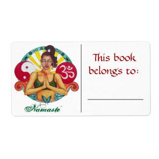 Etiqueta del libro de Namaste Etiqueta De Envío