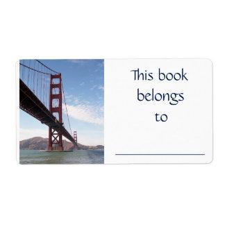 Etiqueta del libro de puente Golden Gate Etiquetas De Envío