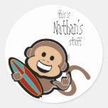 etiqueta del libro del BOOKPLATE del mono que