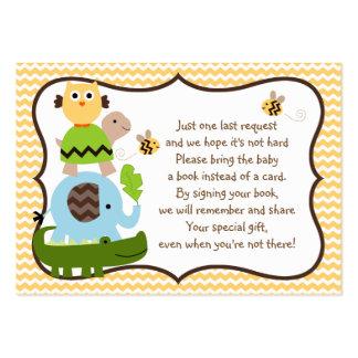 Etiqueta del libro del favor del elefante de los tarjetas de visita grandes