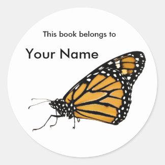 etiqueta del libro del monarca