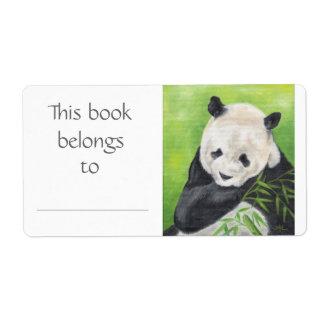 Etiqueta del libro del oso de panda etiquetas de envío