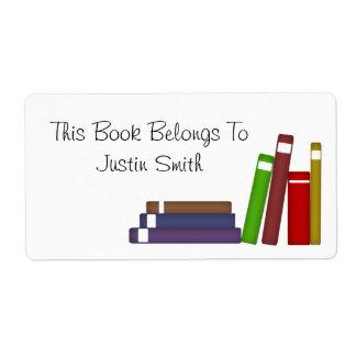 Etiqueta del libro etiquetas de envío
