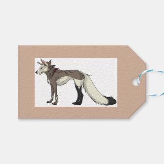 Etiqueta del lobo de la chaqueta de punto etiquetas para regalos