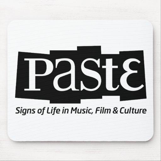 Etiqueta del logotipo del bloque de la goma en el  tapete de ratones