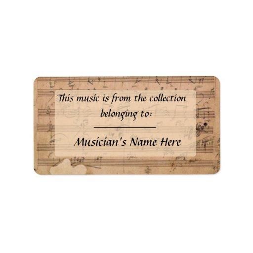 Etiqueta del manuscrito de la sonata de Beethoven Etiquetas De Dirección
