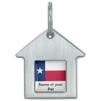 Etiqueta del mascota con la bandera del estado de  placa de mascota