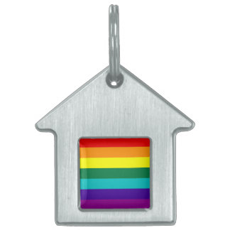 Etiqueta del mascota de la bandera del orgullo del placas de nombre de mascota