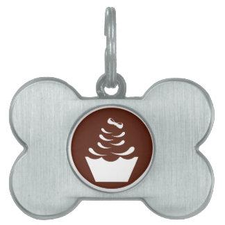 Etiqueta del mascota de la magdalena placa de mascota