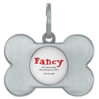 Etiqueta del mascota de la muestra placa de mascota