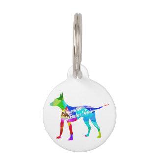 Etiqueta del mascota de la prisma del arco iris de placas para mascotas