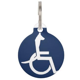 Etiqueta del mascota de la silla de ruedas de Rex Placa Para Mascotas
