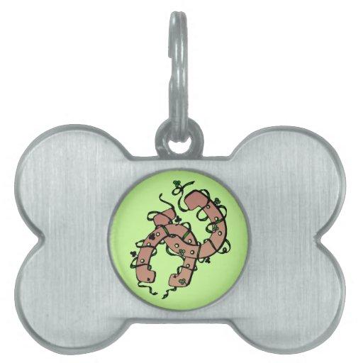 Etiqueta del mascota de los tréboles de las herrad placa de mascota