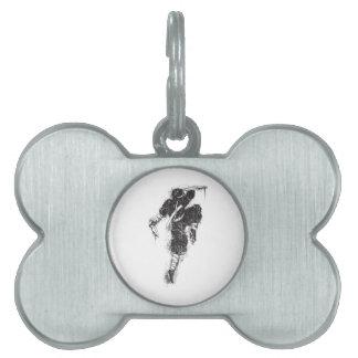 Etiqueta del mascota de Ninja Placa De Nombre De Mascota