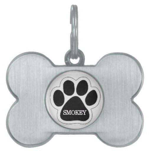 Etiqueta del mascota de Smokey Placa De Nombre De Mascota